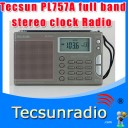 Tecsun PL757A Wide-band digital tuning stereo clock Radio potable radio