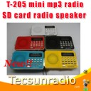 T-205 mini radio mp3 radio Intelligent digital charging radio SD card speaker