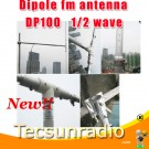 DP100 Dipole FM radio antenna station 0-150W fm broadcast transmitter equipment 1/2 wave outdoor Dipole fm antenna