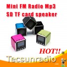 Hot sale mini Speaker music angel MD08 MP3 Player USB Disk Micro SD TF Card digital FM Radio with LCD Free shipping