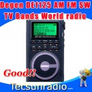 Degen DE1125 Digital Stereo FM AM SW TV  Radio TV band Campu Portable