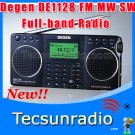 Degen DE1128 FM MW SW Full-band SD card E-book reading Radio New Product