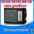 Tecsun MP200 High-sensitivity MW SW radio clock radio