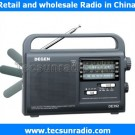 Degen de392 FM AM Shortwave Charging by Cranking Handle Radio