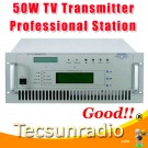 FMUSER 518A-50W VHF UHF All Solid State wireless analog TV Signal Broadcast transmitter TV Station Broadcasting Equipment